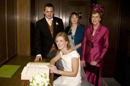The signing of the register