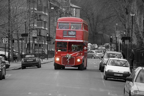 The routemaster bus en route to Greenwich
